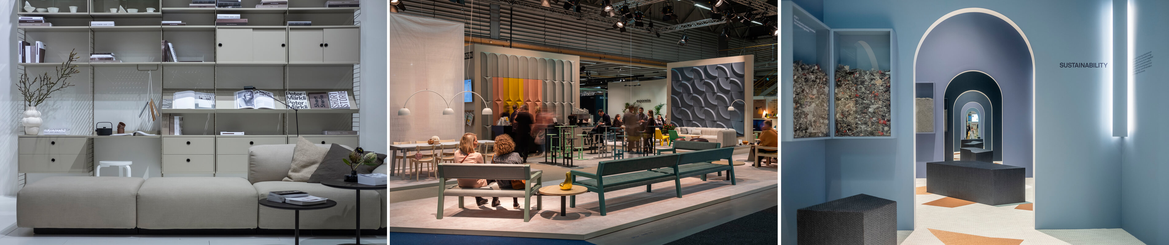 Stands at Stockholm Furniture & Light Fair